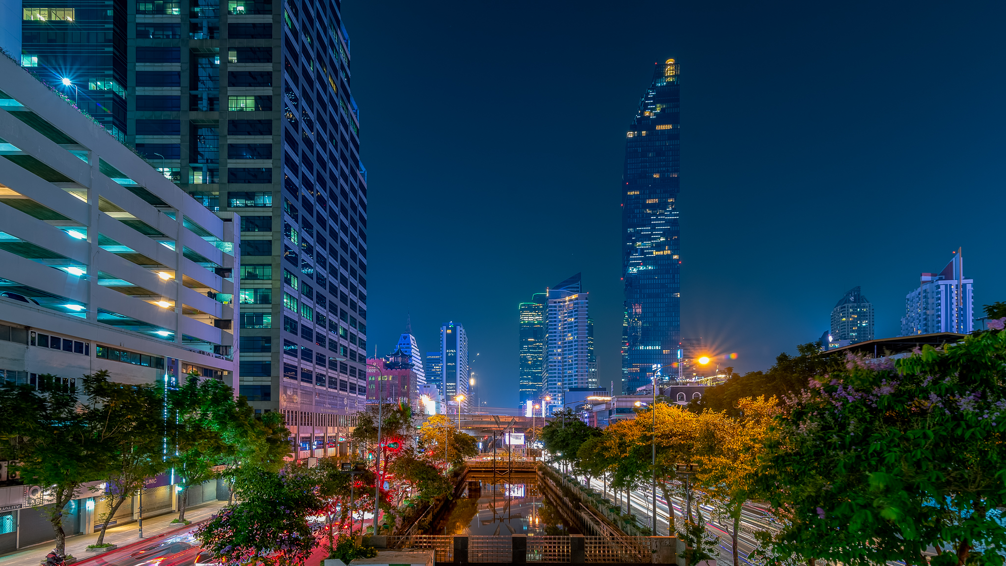 Bangkok citycsape from silom, Thailand