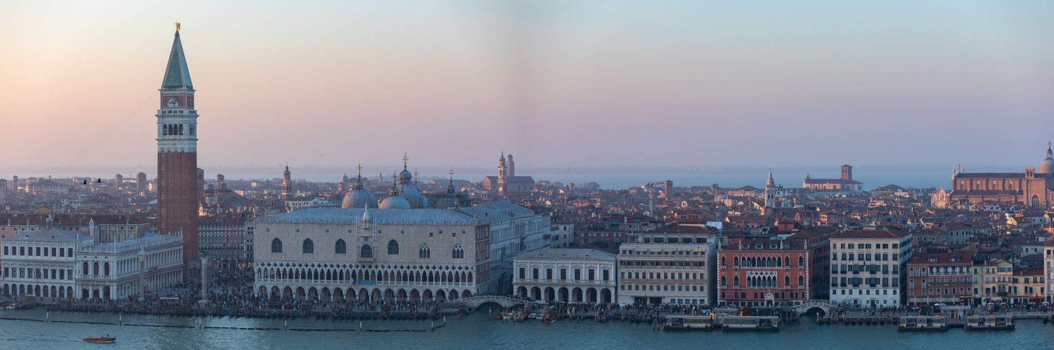 View in the church tower of San Giorgio in Venice, Italy
