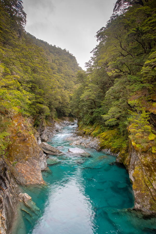 Blue Pools Haast Pass, New Zealand