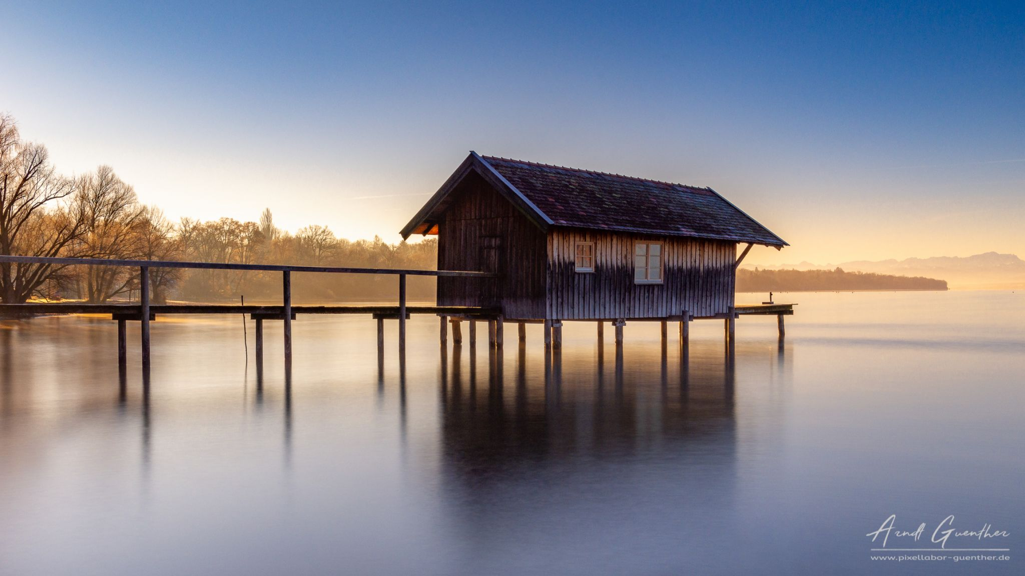 Boathouse at the Ammersee, Germany