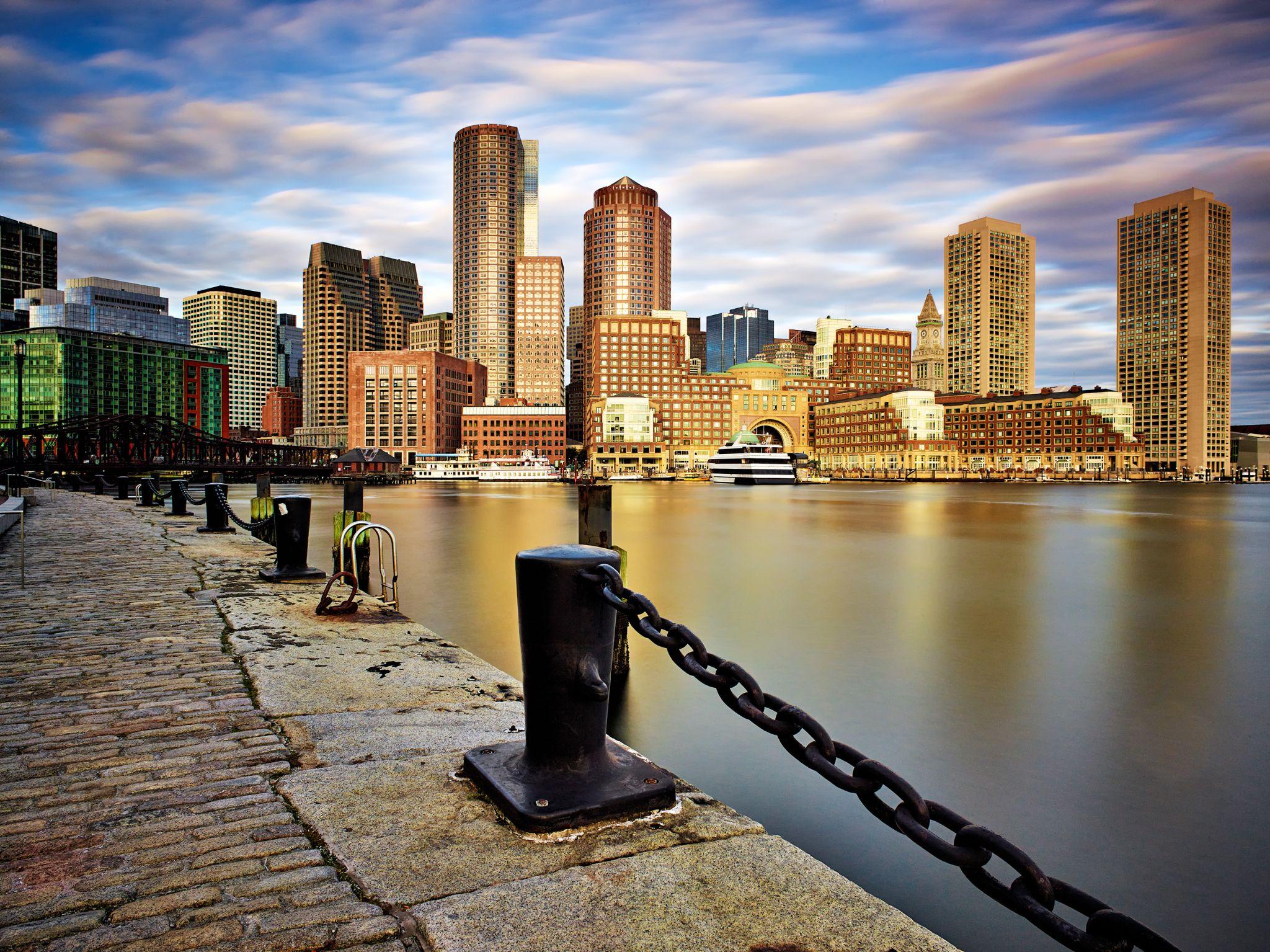 Boston Waterfront Skyline, USA