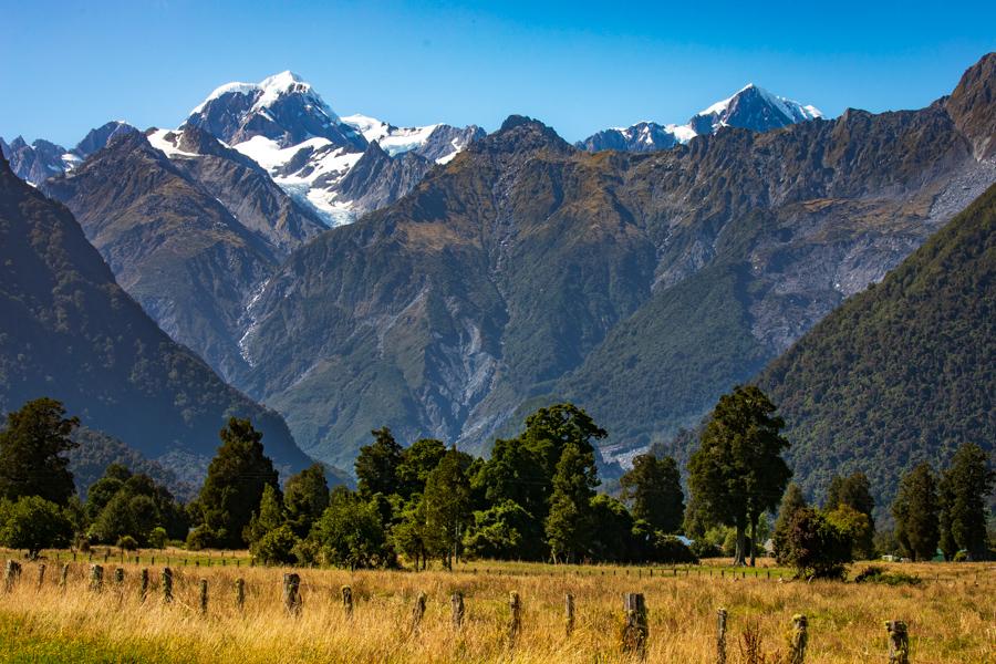 Fox Glacier mountain landscape South Island, New Zealand