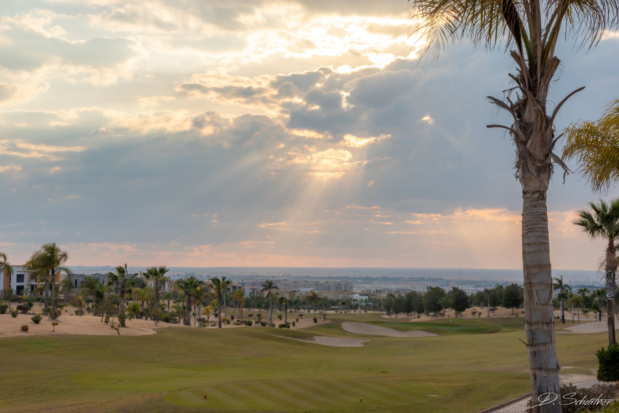 Golf course in Sheikh Zayed City, Egypt