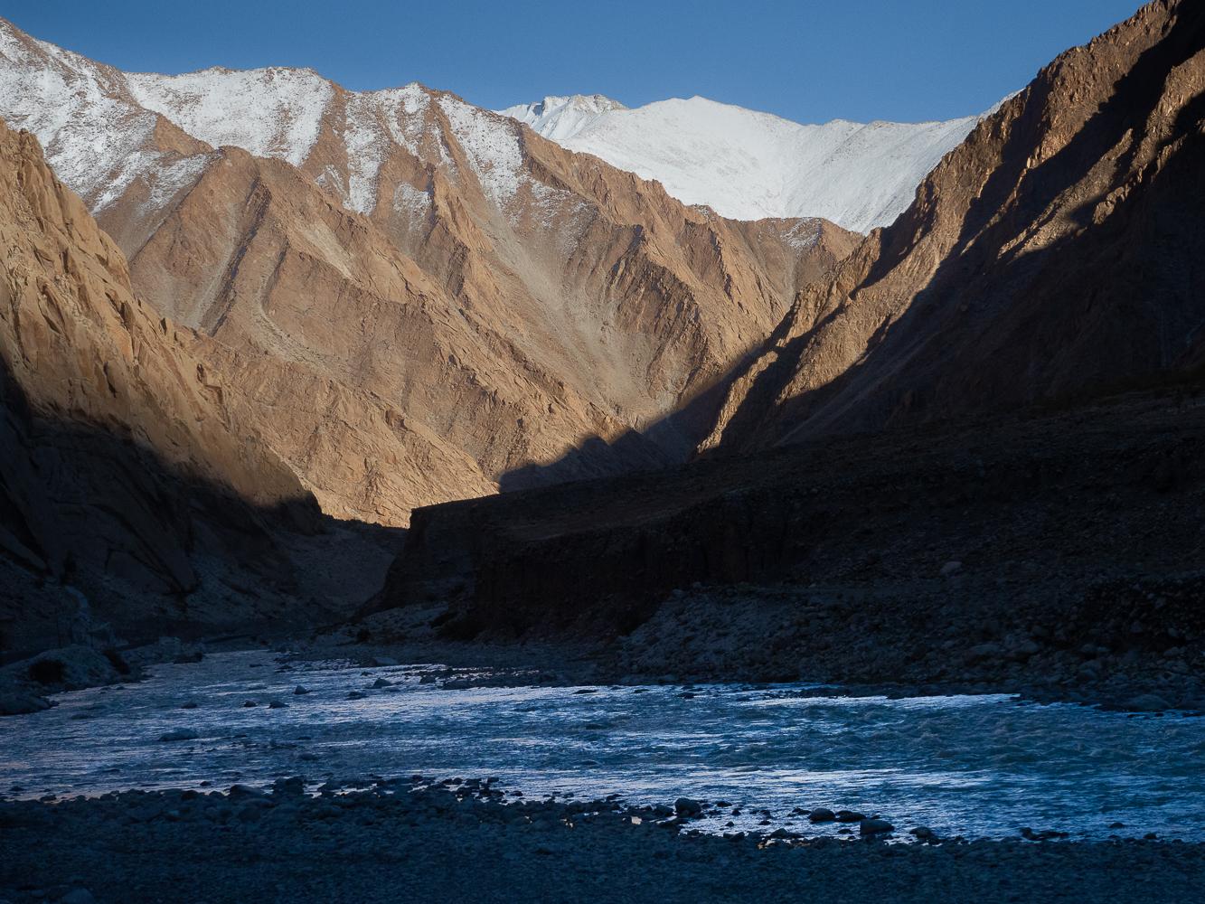 Indus on the way to Tsa moriri lake, India