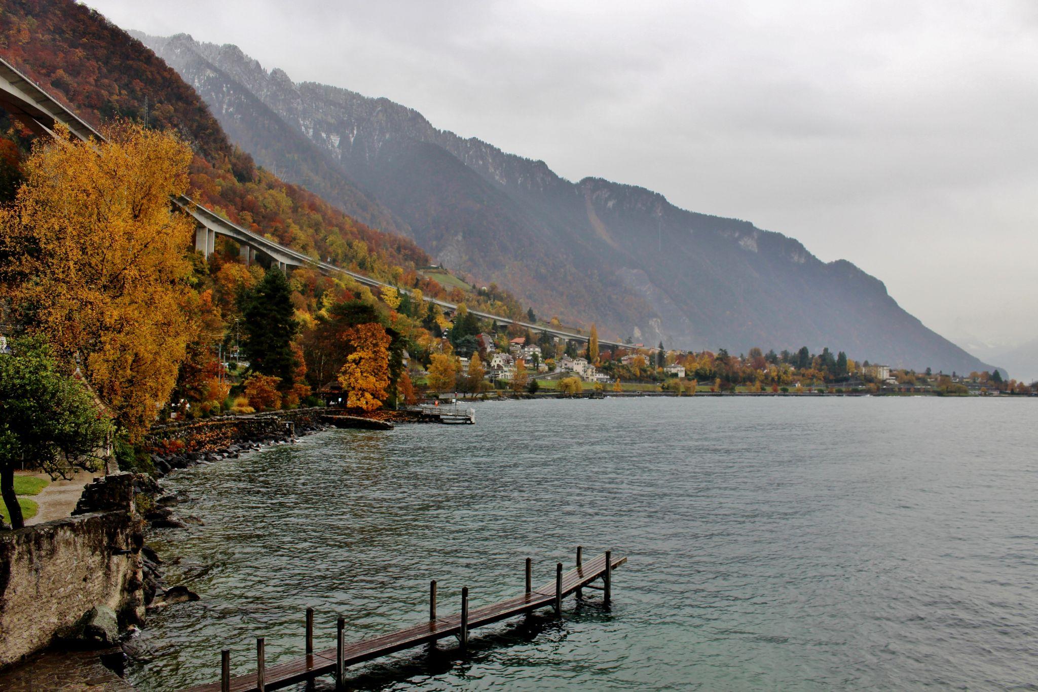 Lake Geneva in autumn, Switzerland
