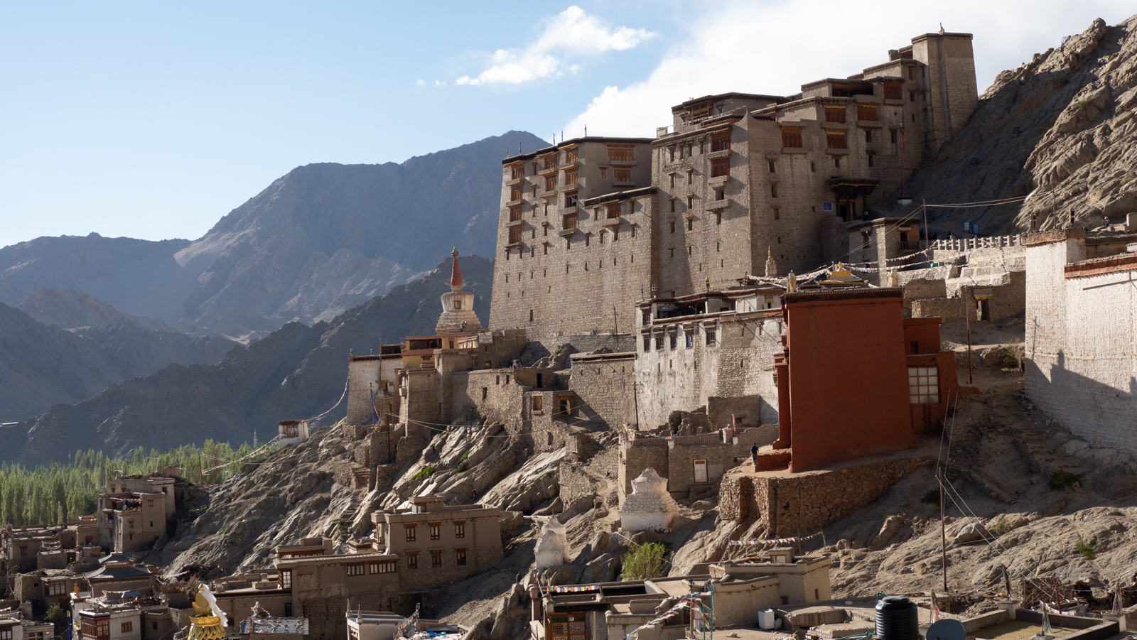 Leh palace from east, India