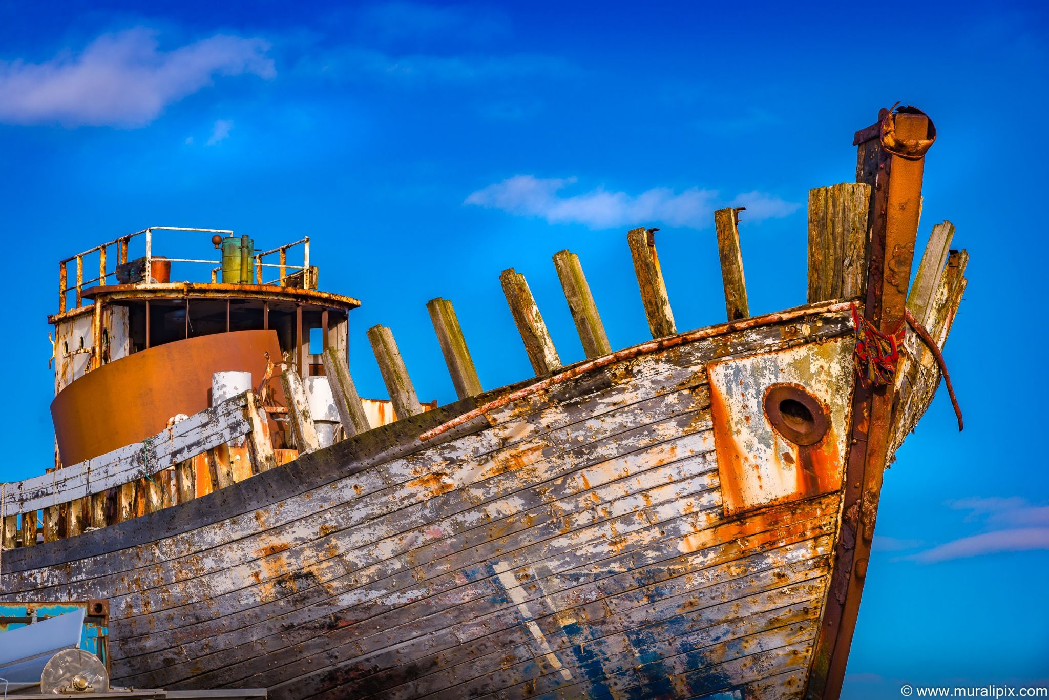 Old Rusty Boat in Akranes, Iceland