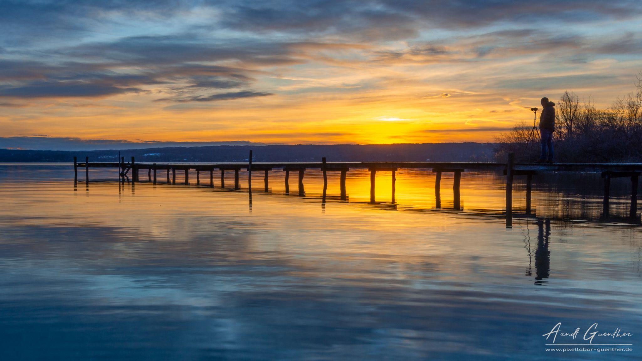 photographer on sunset, Germany