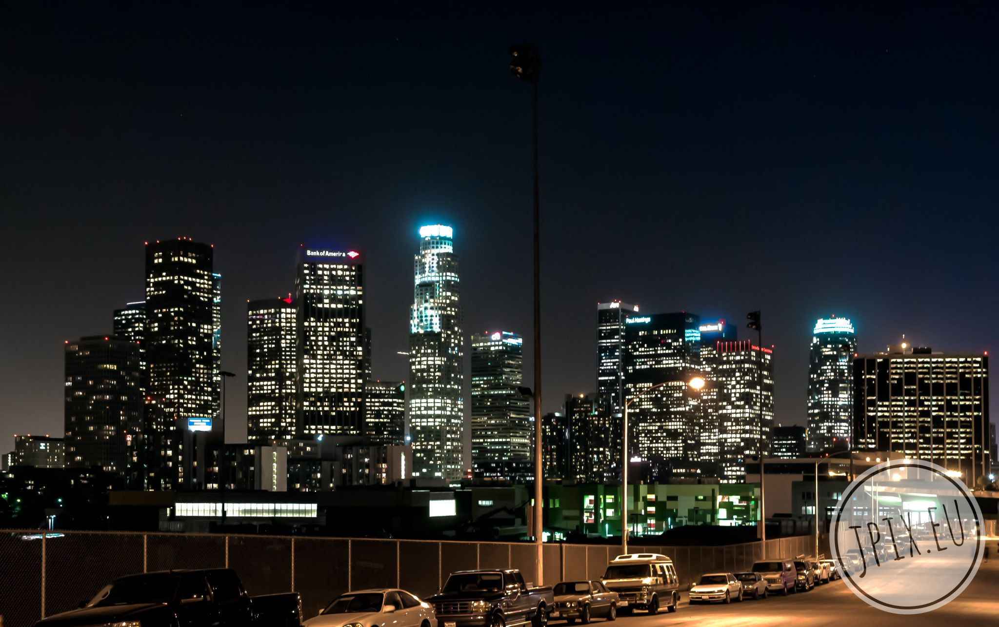 Skyline of Downtown Los Angeles, USA