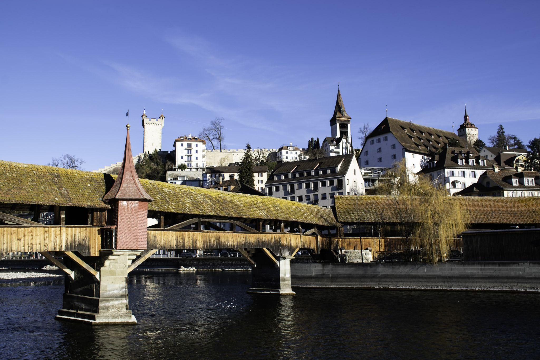 Spreuerbrücke Bridge, Switzerland