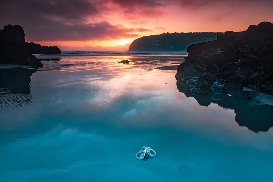 Sumner near Christchurch Sunrise South Island, New Zealand