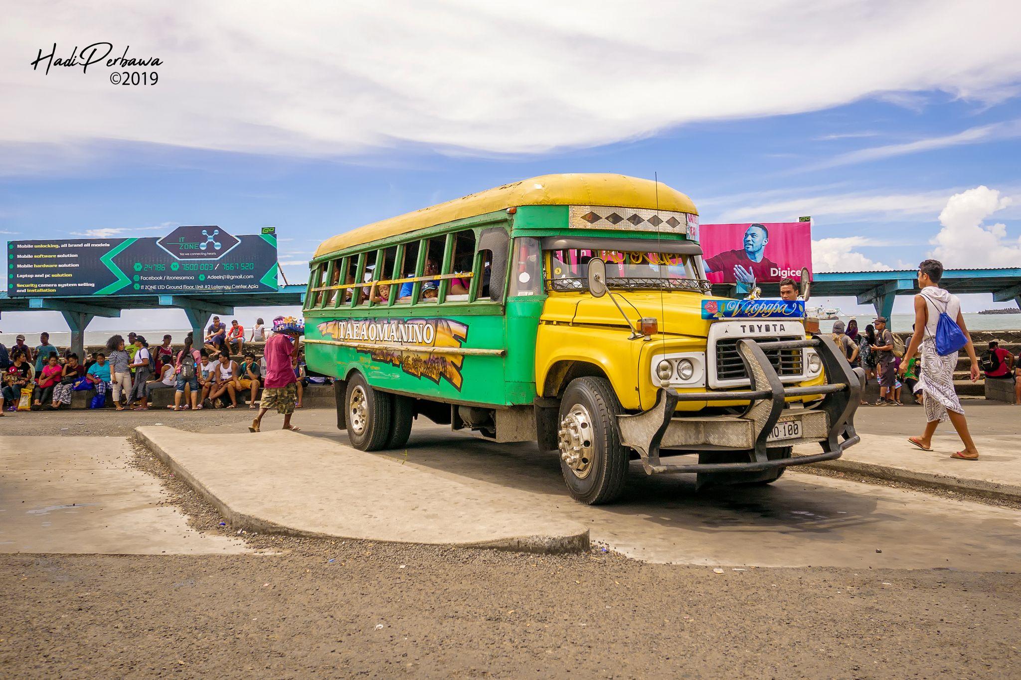 The Apia's Iconic Colorful Bus, Samoa