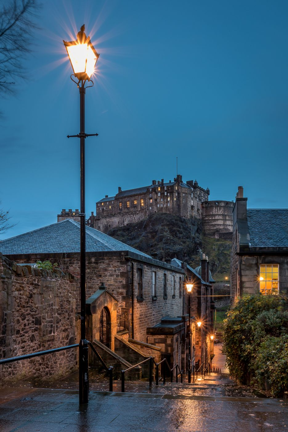 The Vennel and Edinburgh Castle, United Kingdom