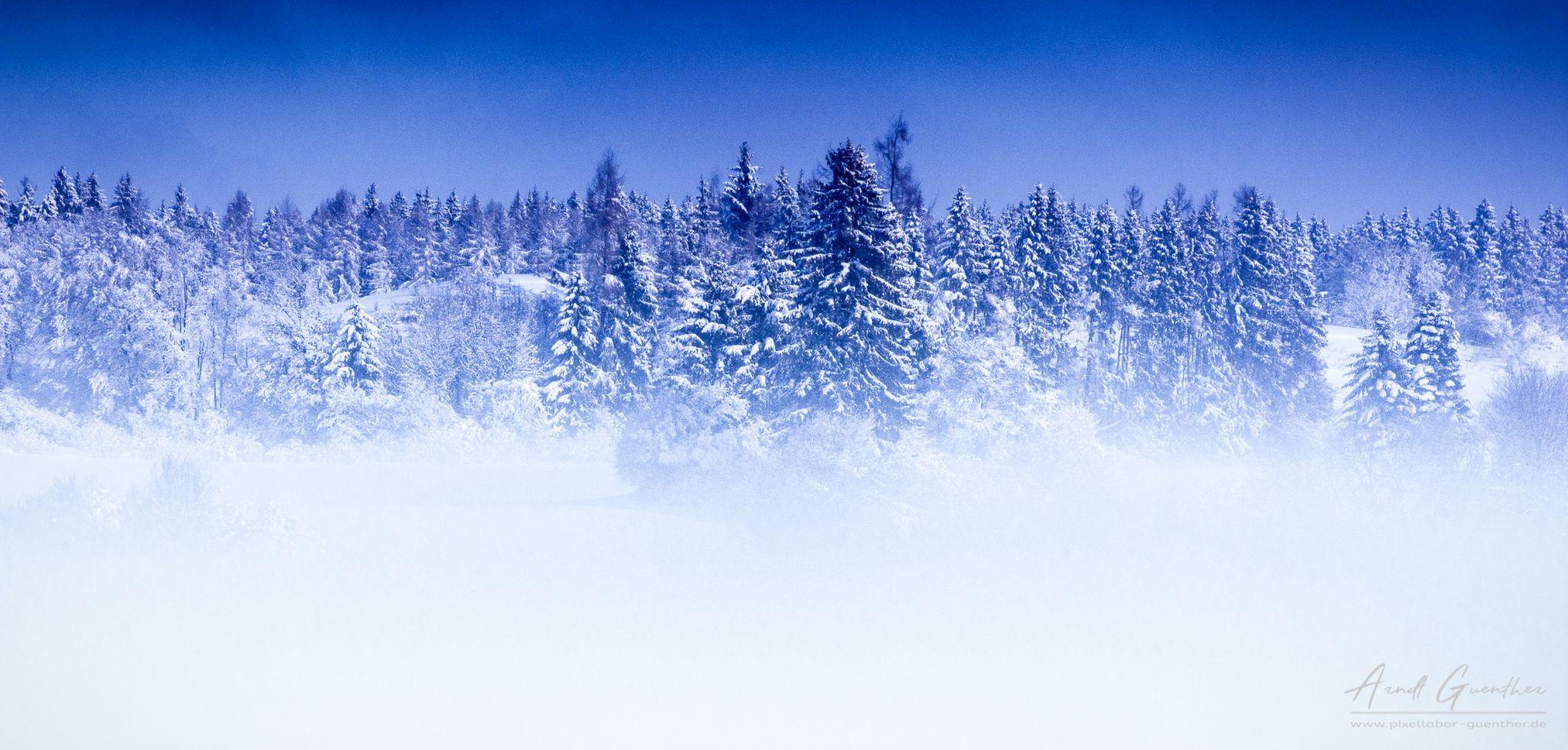 White Blue Winter Landscape, Germany