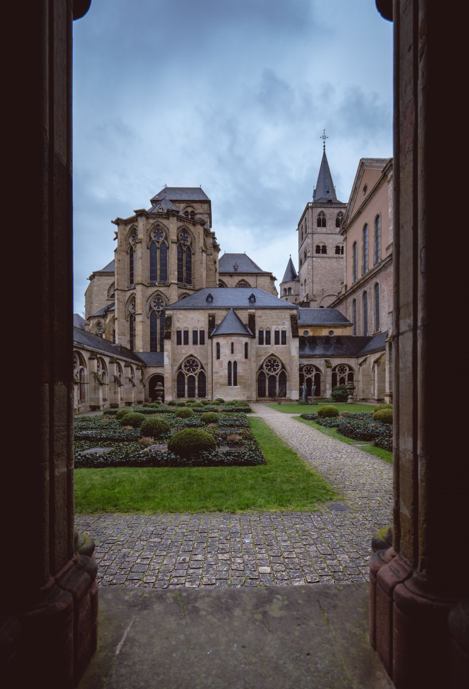 Backyard of the Cathedral in Trier, Germany