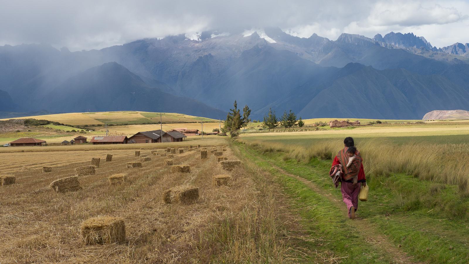 Between Maras et Chinchero, Peru