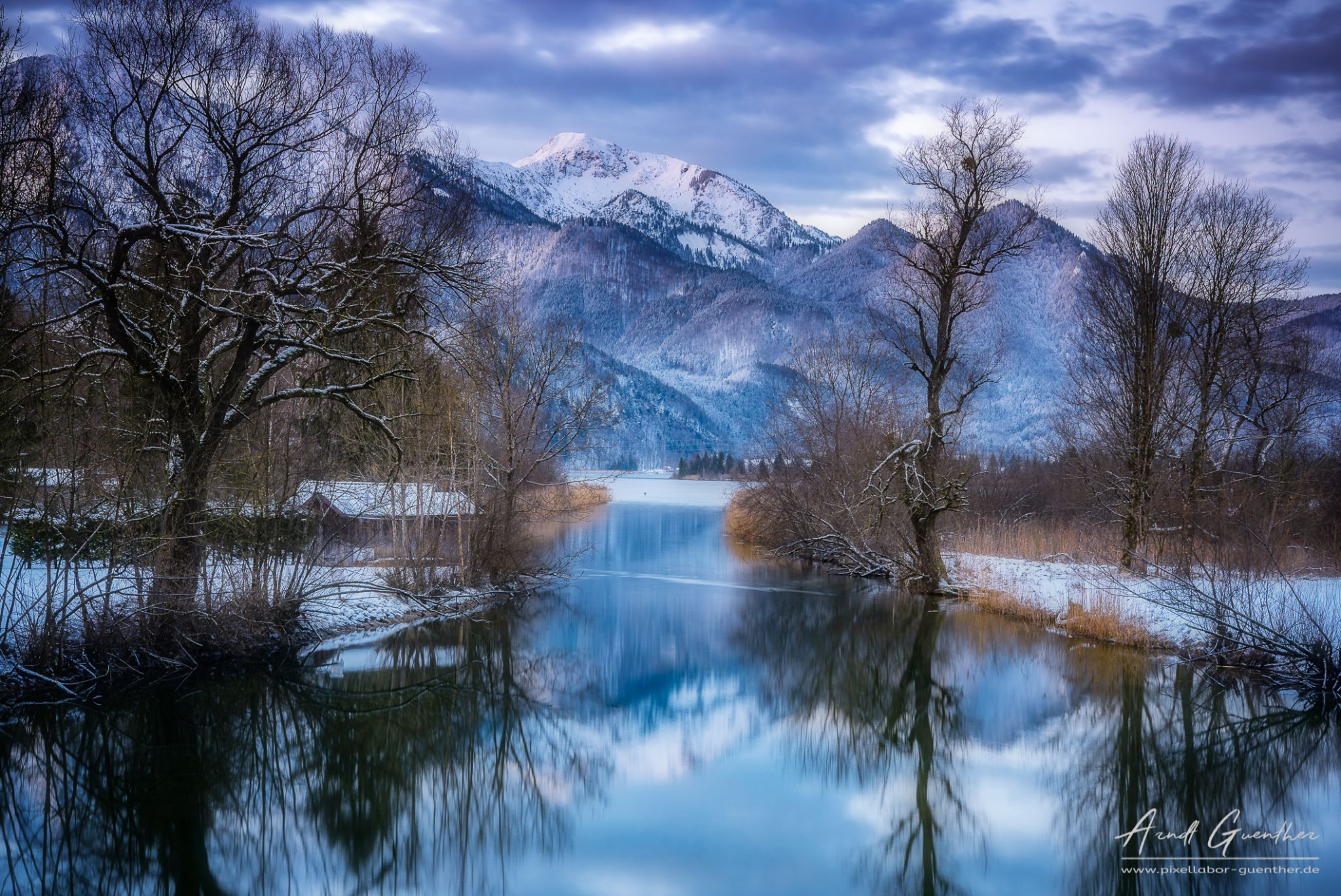 Blue hour at Kochelsee, Germany