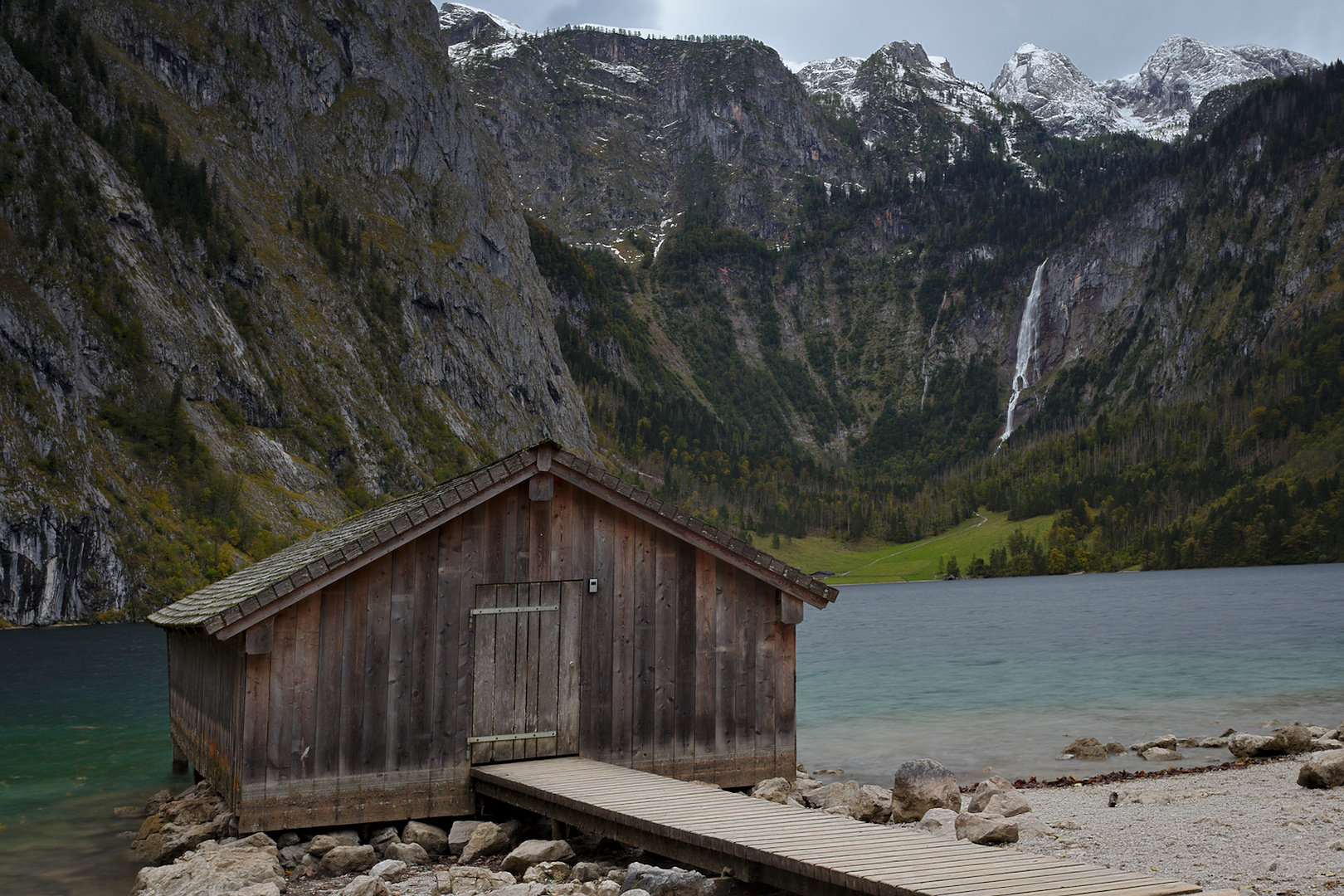 Boathouse at Obersee, Germany
