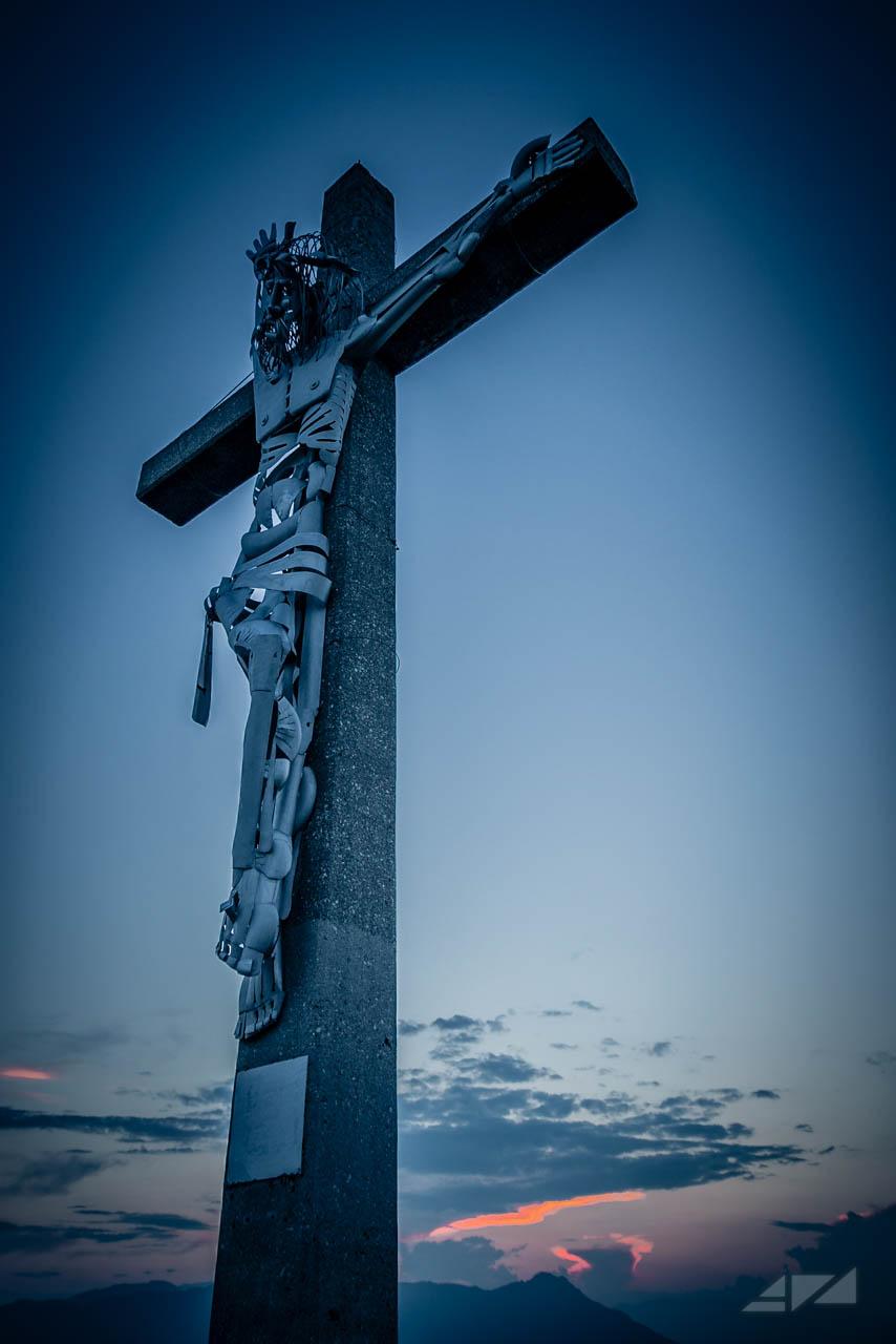 Jesus Christ on cross - Summano Mountain, Italy