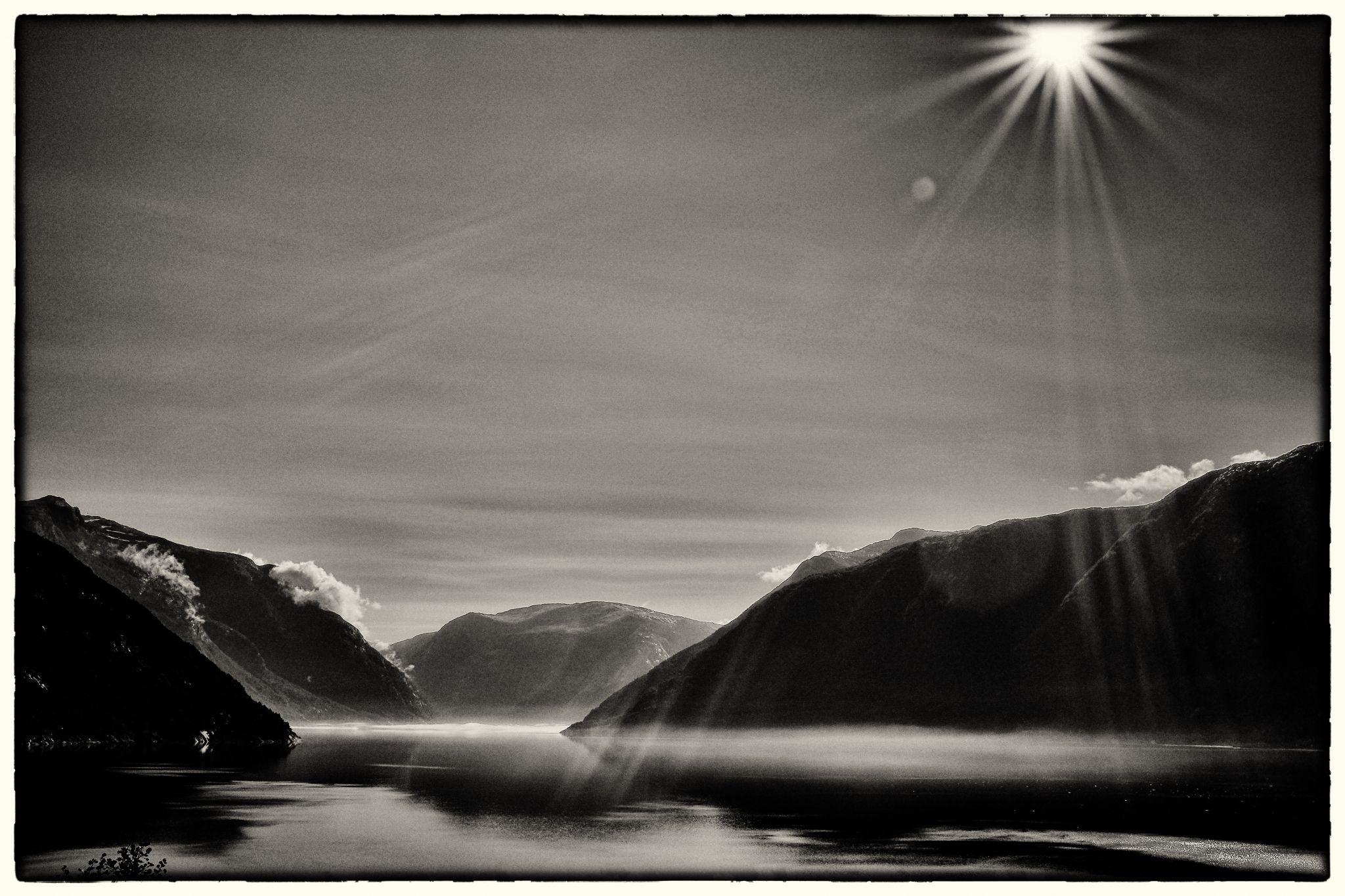 just before Ulvik, Norway