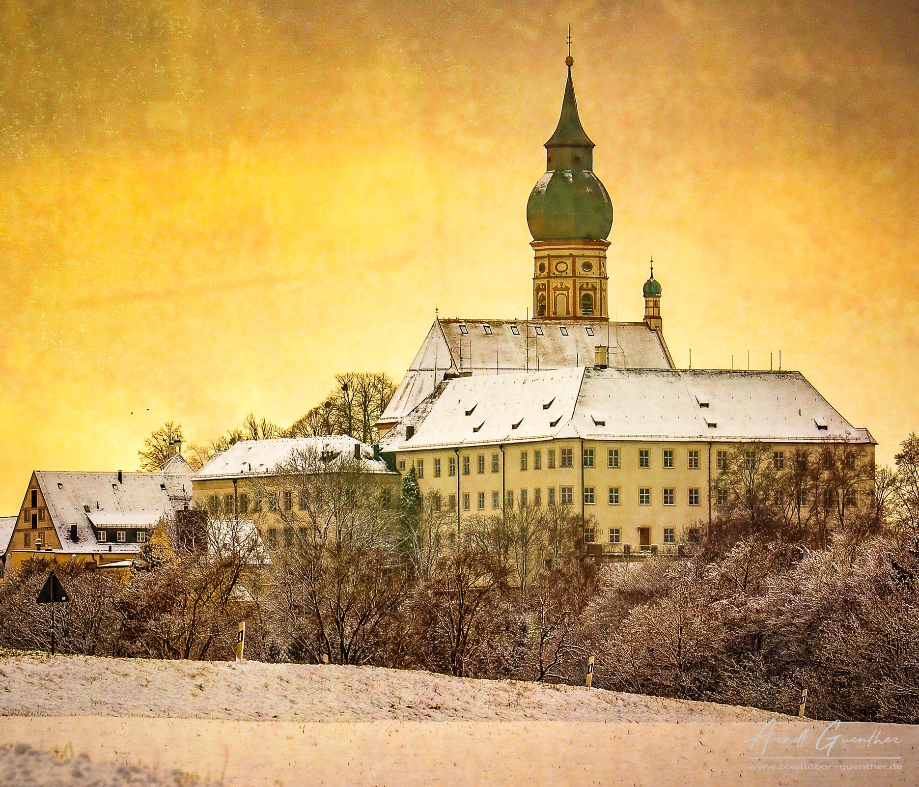 Kloster im Winter, Germany