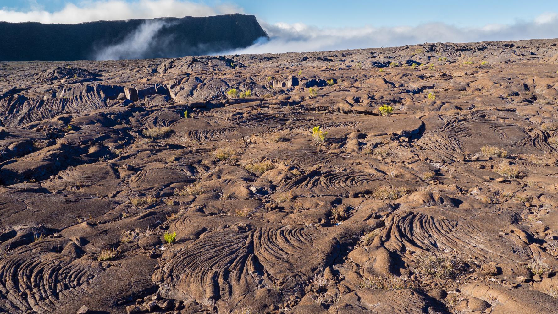 Lava fields  at Piton de la fournaise, Reunion