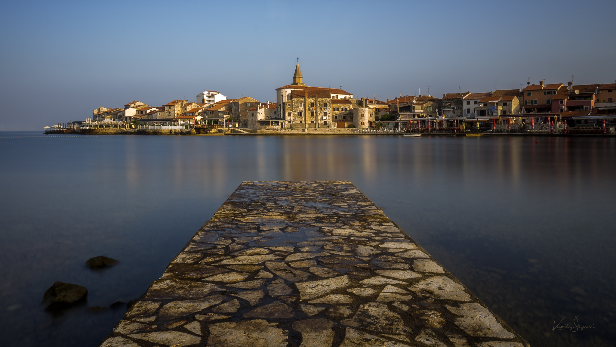 Little bay in the old town of Umag, Istria, Croatia