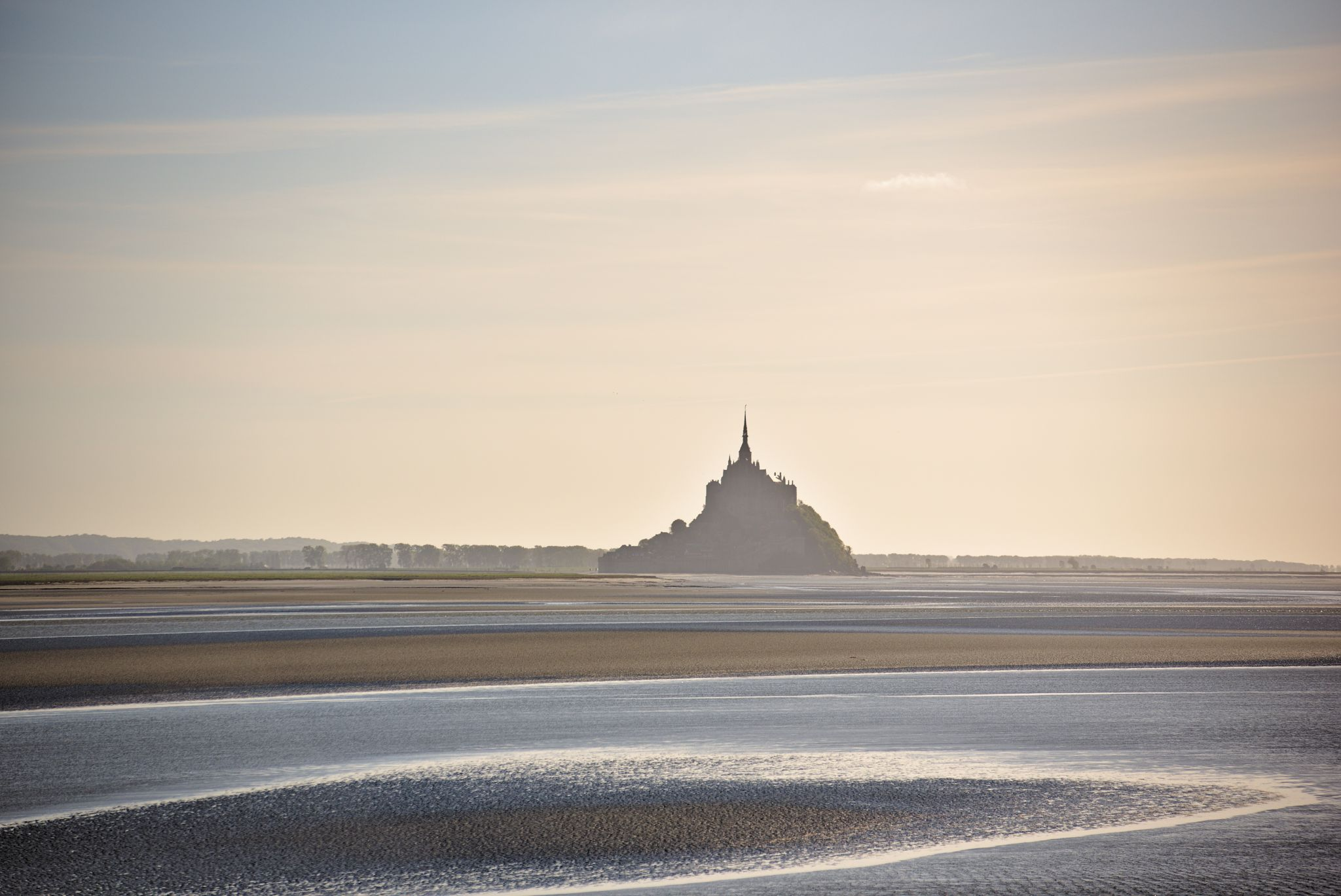 Mont Saint-Michel sunset, France