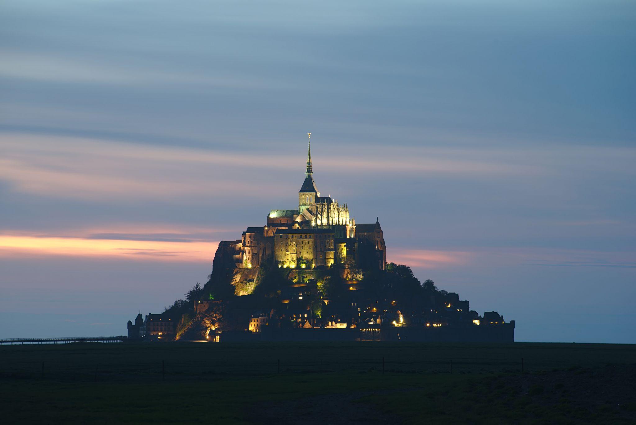 Mont Saint-Michel sunset, France