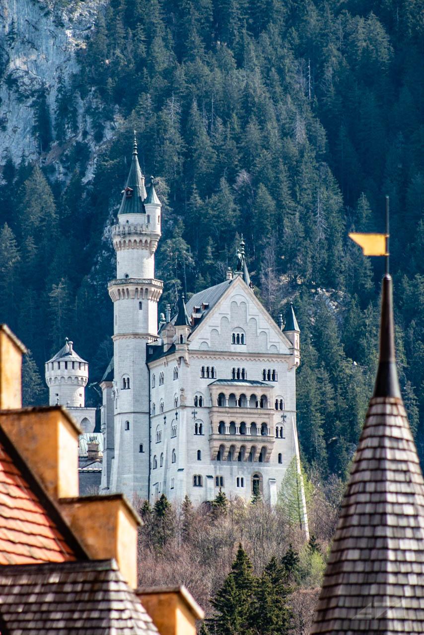 Neuschwanstein Castle form Hohenschwangau Castle, Germany