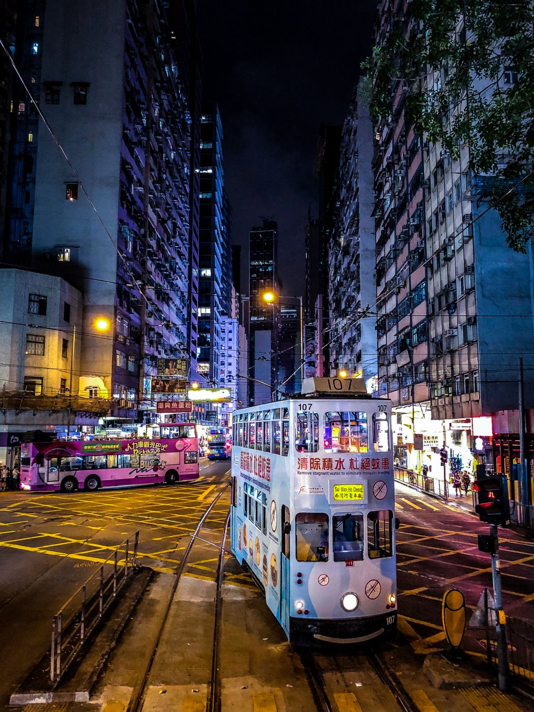 Old trams and busses, Hong Kong