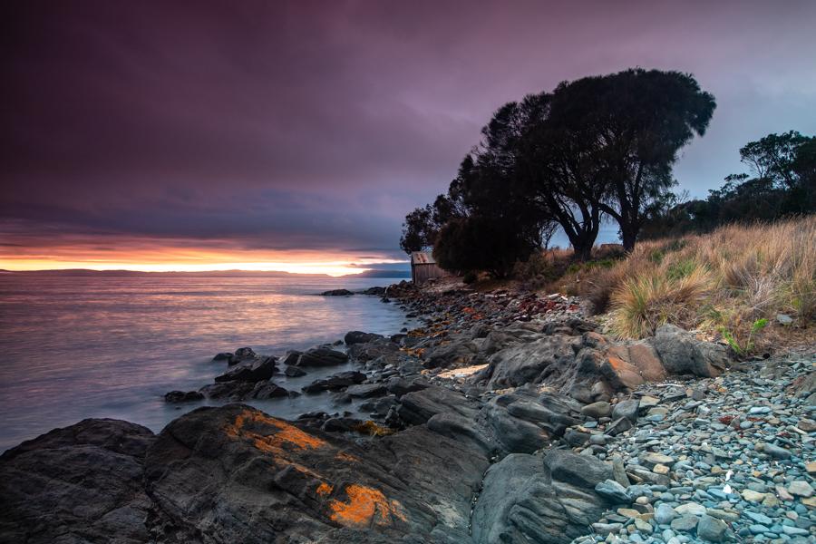 Piermont Retreat beach sunrise Tasmania, Australia