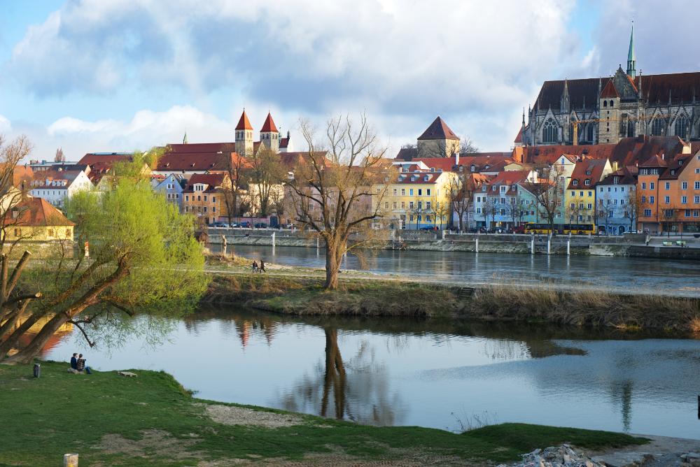 Regensburg river, Germany