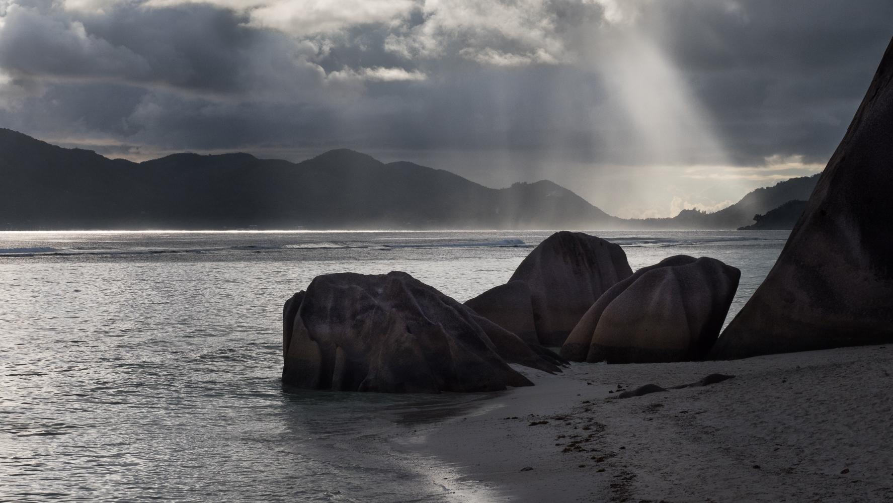 Shower at La Digue, Seychelles