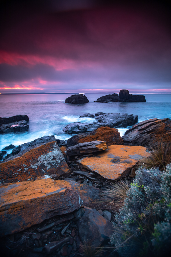 Spiky Beach sunrise Swansea Tasmania, Australia