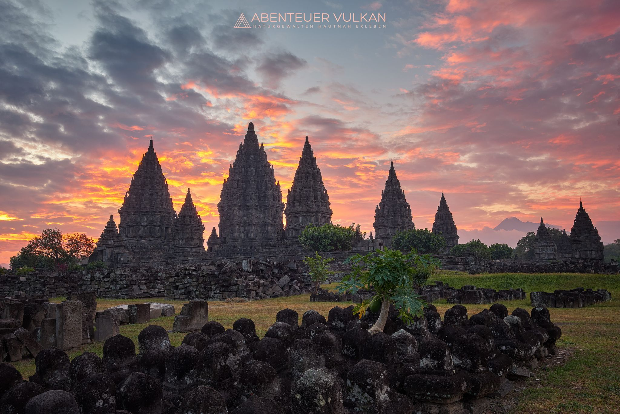 Sunset at Prambanan Temple, Indonesia