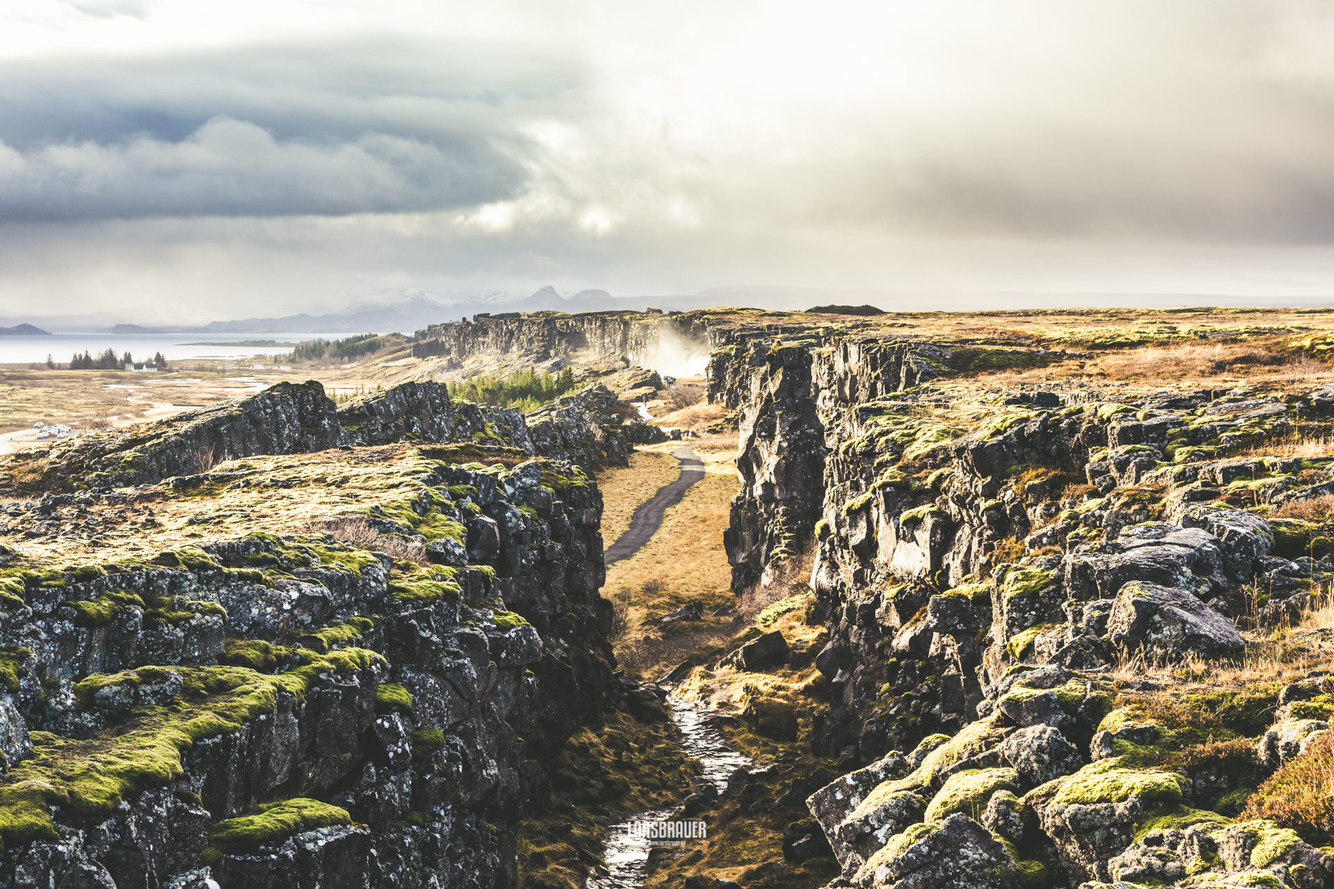 Thingvellir at the rift valley in Iceland, Iceland