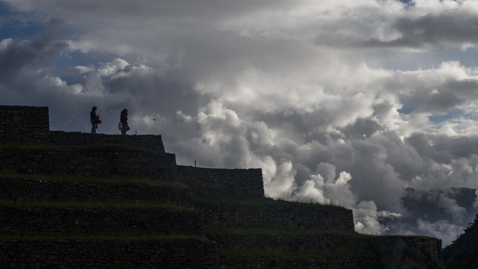 Walking around Machu Picchu, Peru