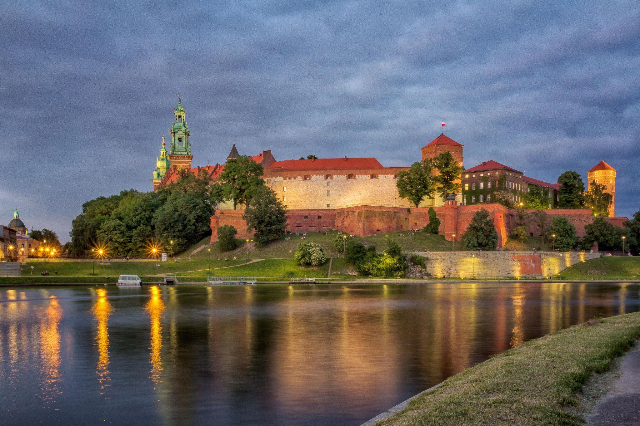 Wawel at sunset, Poland