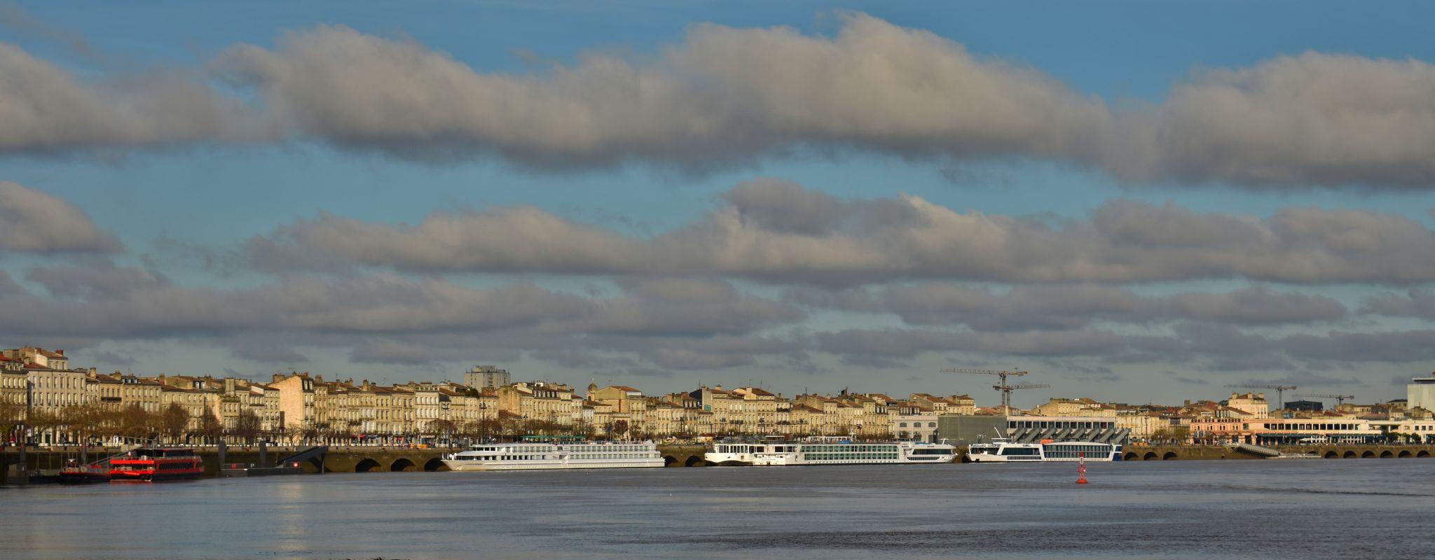 Bordeaux from bridge, France