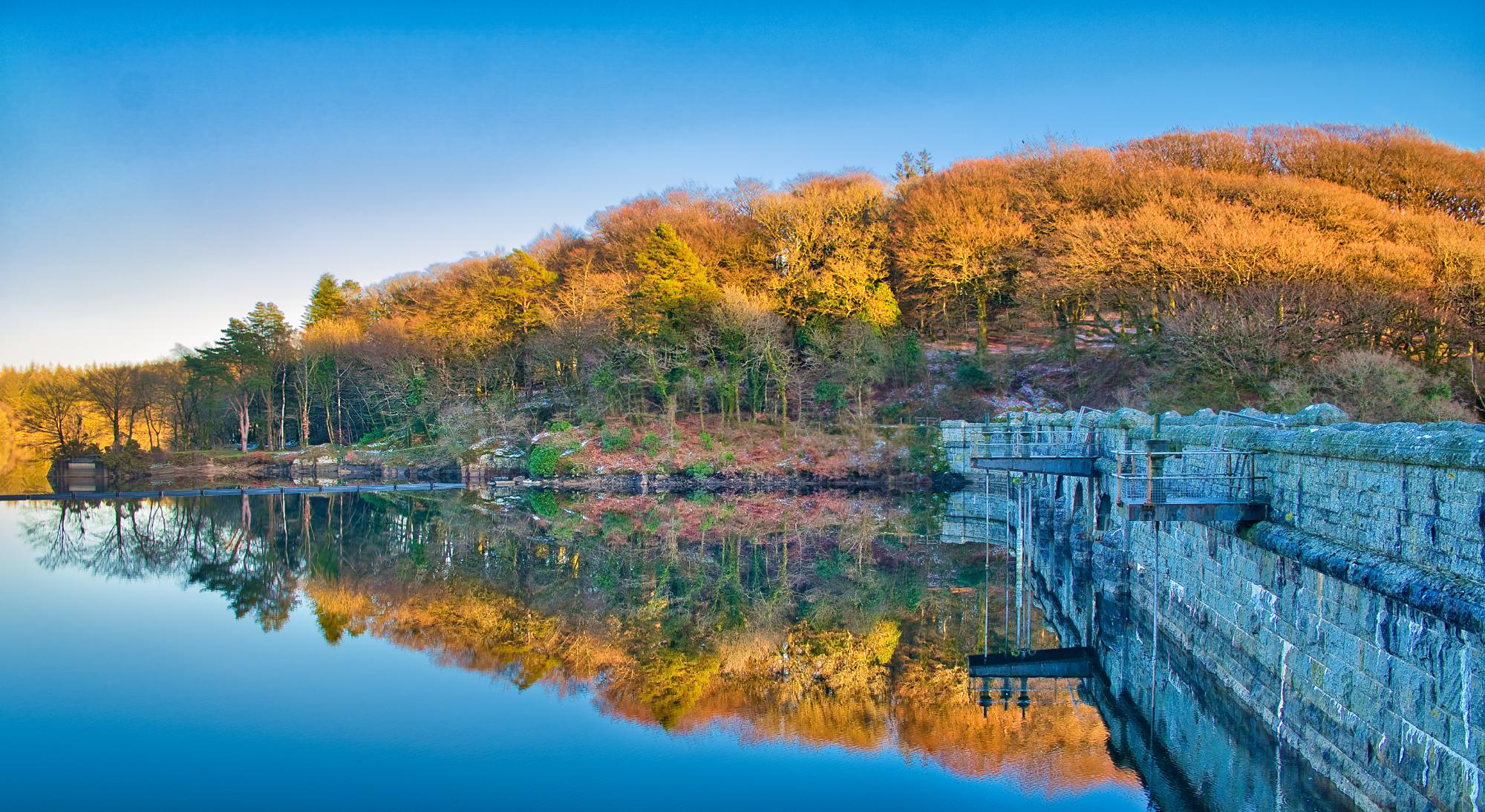Burrator reservoir dam, United Kingdom