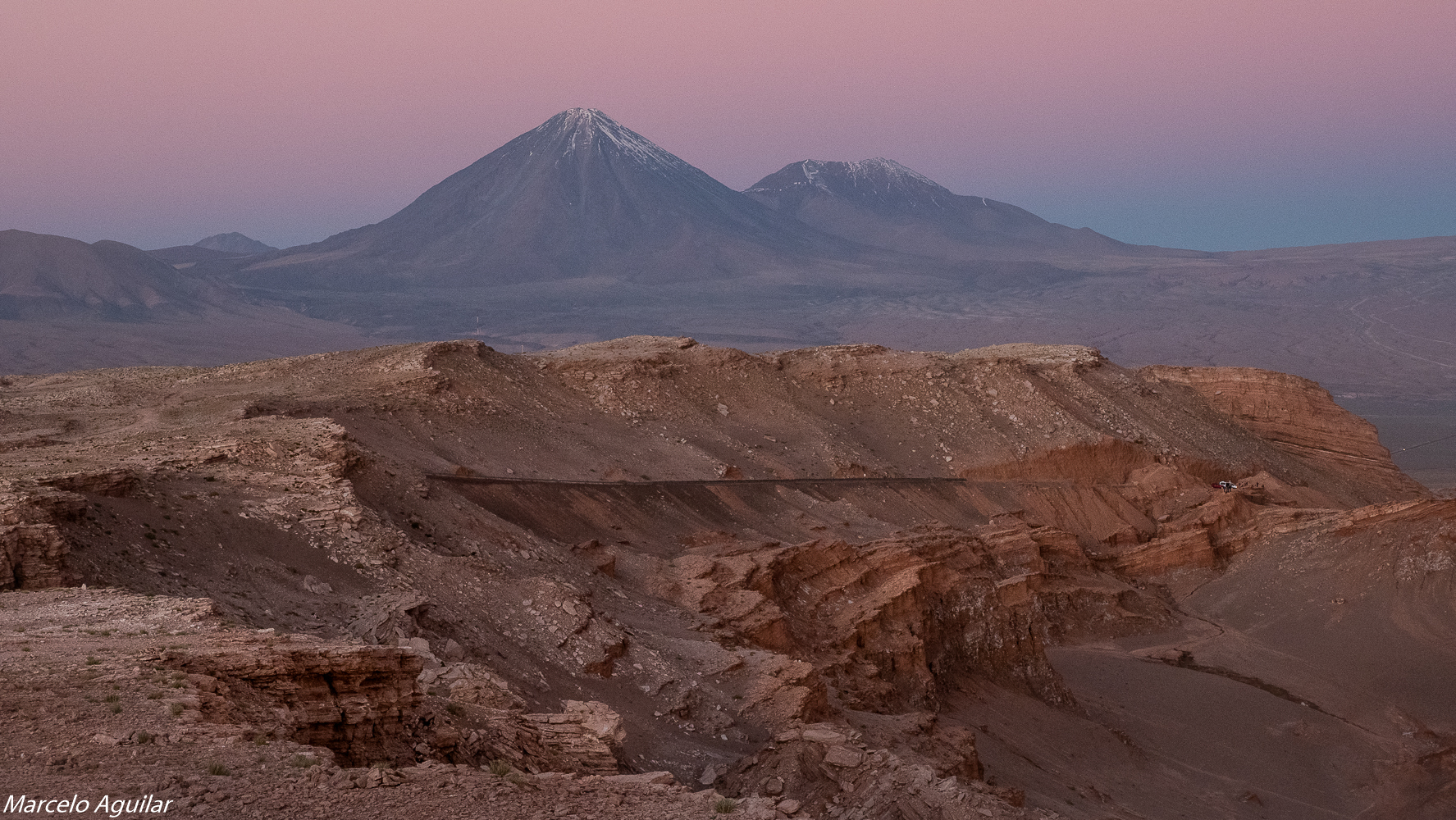 Licancabur from piedra del coyote, Chile