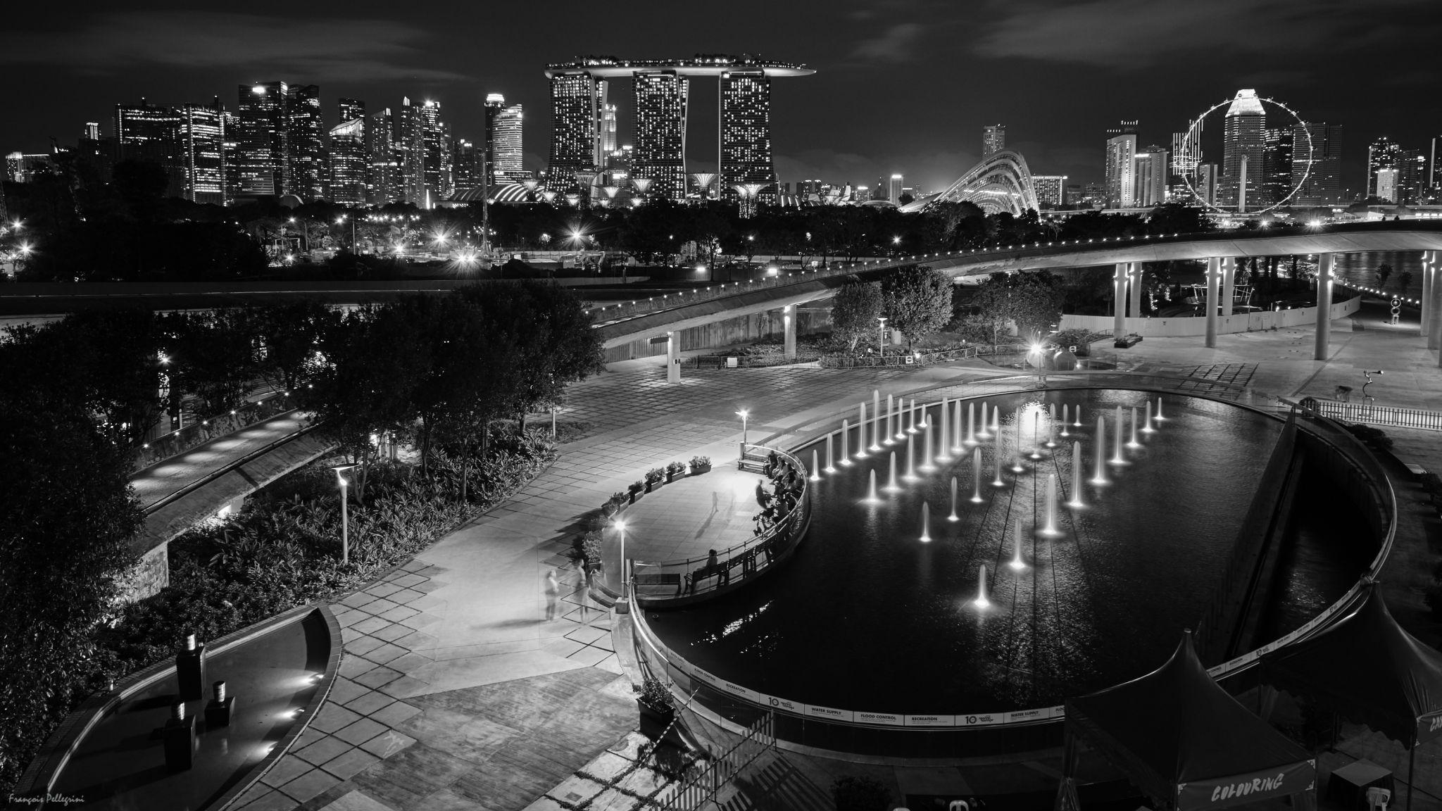 Singapore Skyline (from Marina Barrage), Singapore