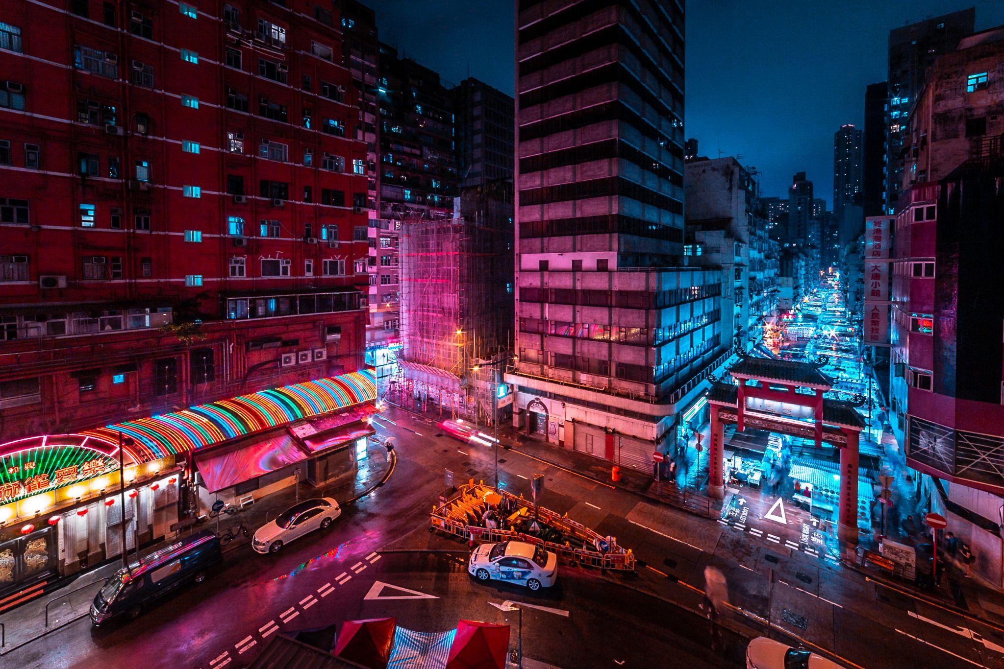 Nightlife in Hongkong Kowloon, Hong Kong