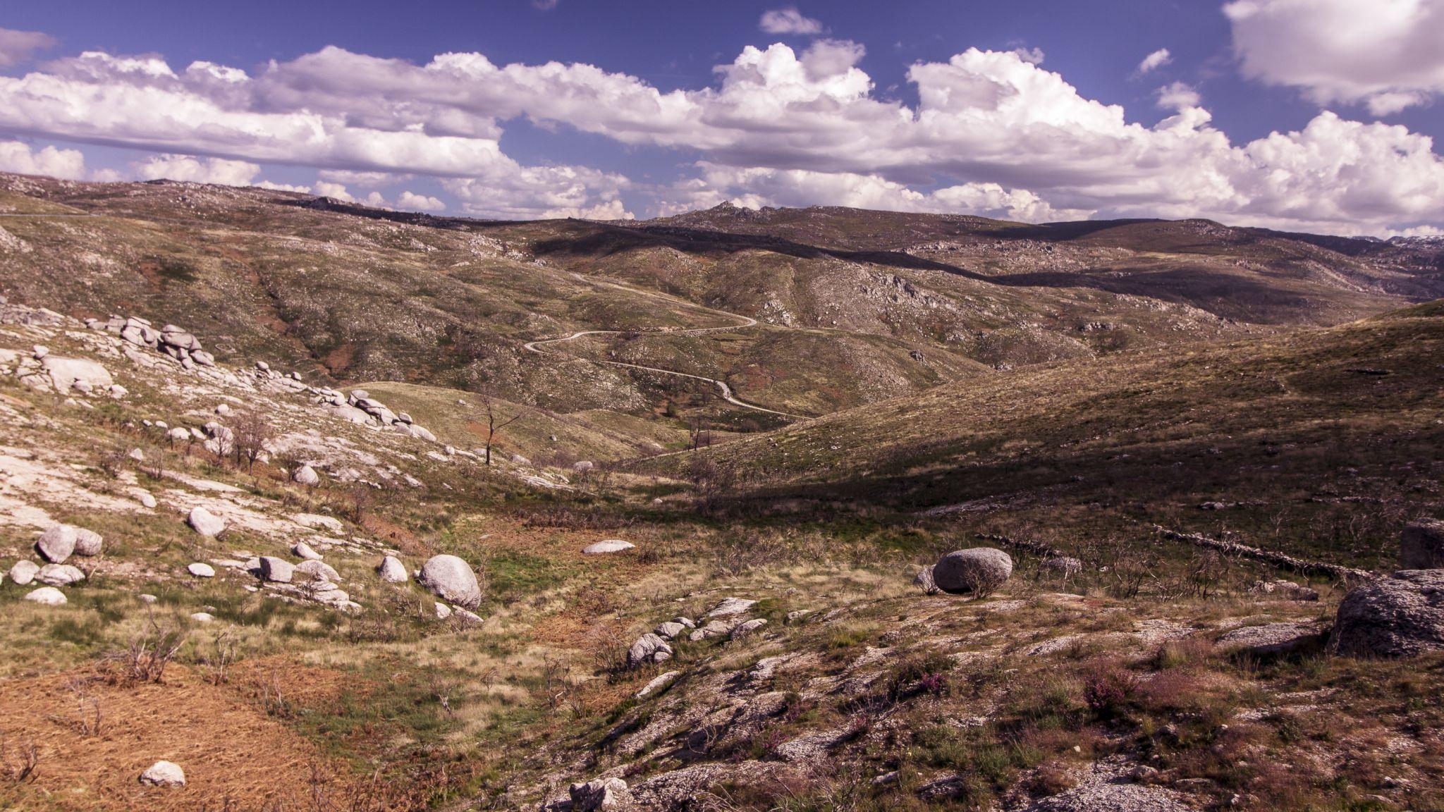 Panoramic view over Serra da Estrela, Portugal