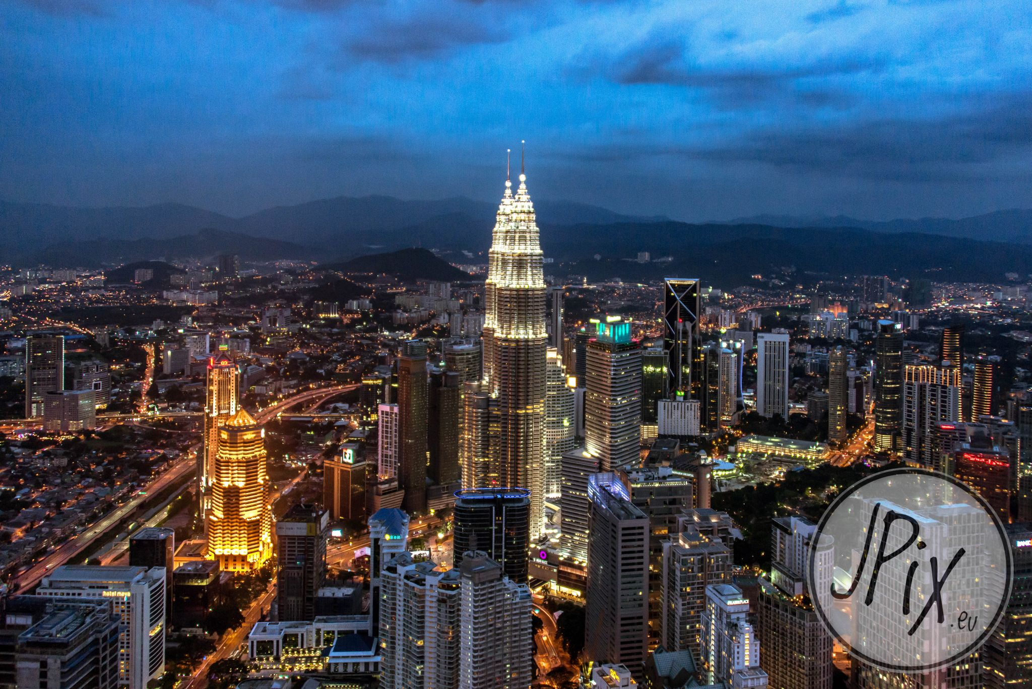 Petronas Twin Towers from Menara Kuala Lumpur, Malaysia