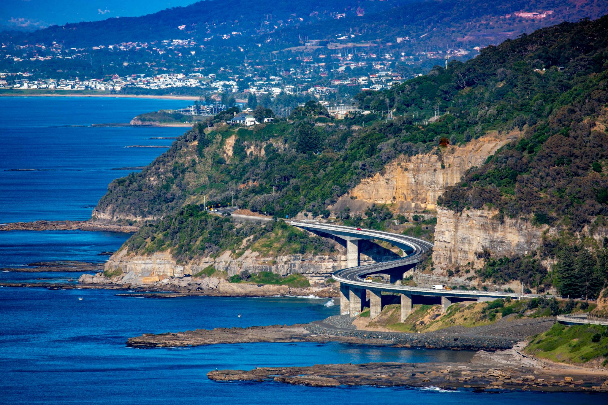 Sea Cliff Bridge from Stanwell Tops New South Wales, Australia