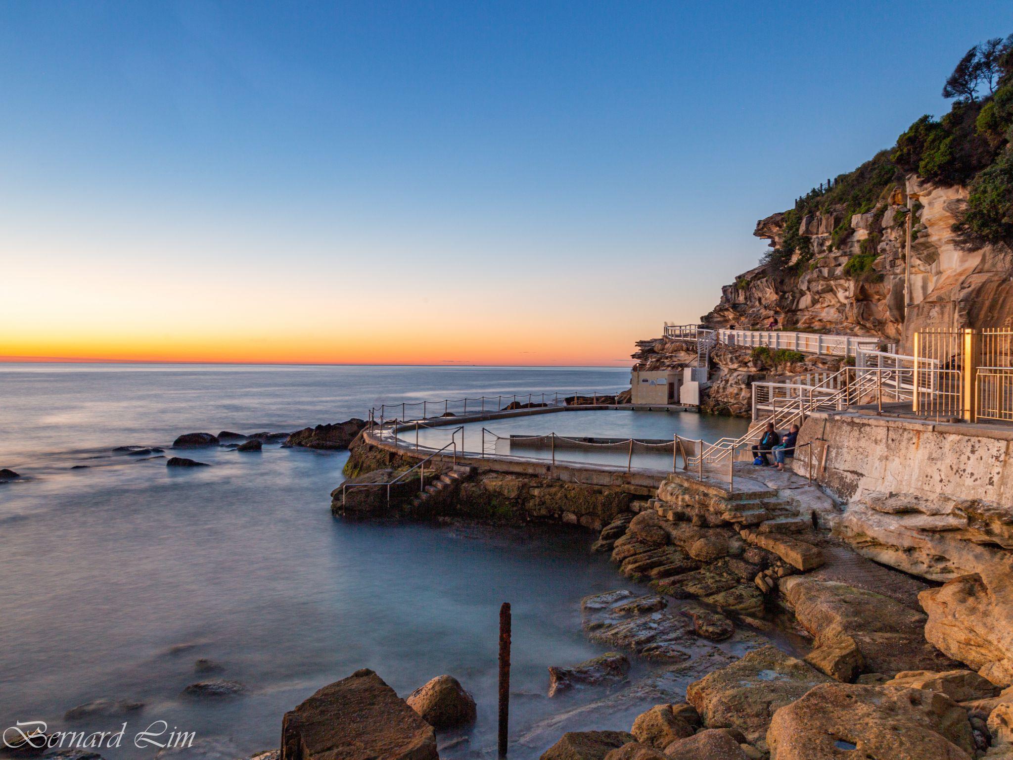 sunrise over the coastal pool, Australia