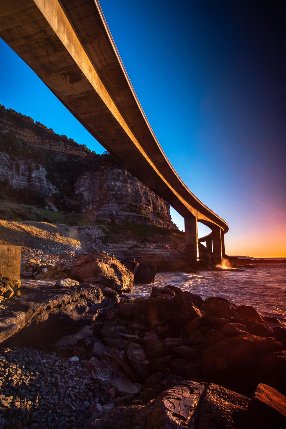 Under the Sea Cliff Bridge Clifton New South Wales, Australia