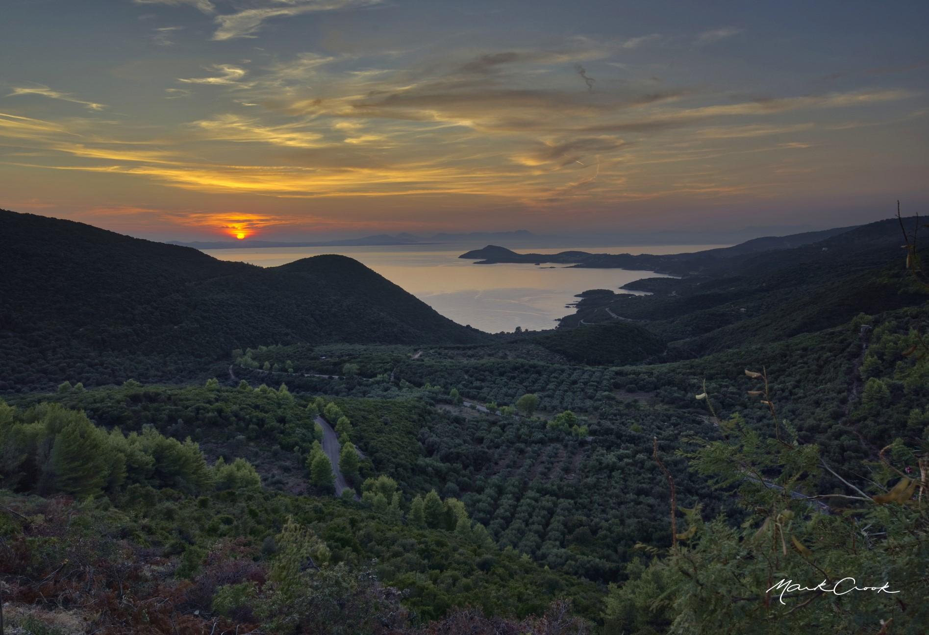 Viewpoint towards Corfu, Perdika, Epirus, Greece, Greece